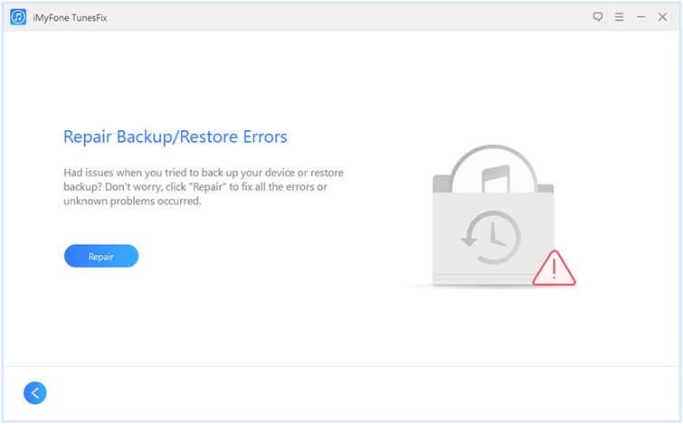 repair backup/restore errors