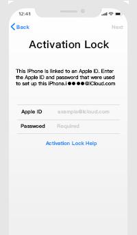 アクティベーションロックのパスワードを忘れた場合