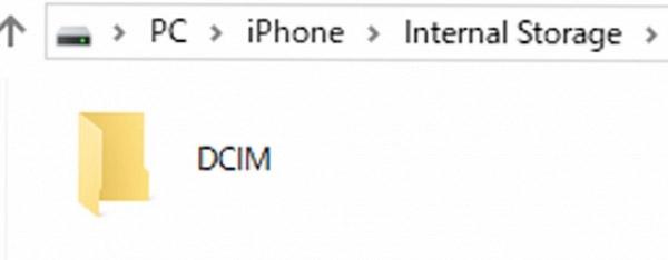 iPhone DCIMフォルダ