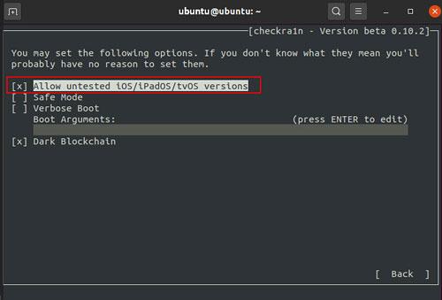 Checkra1nスタートボタンの灰色の問題を修正