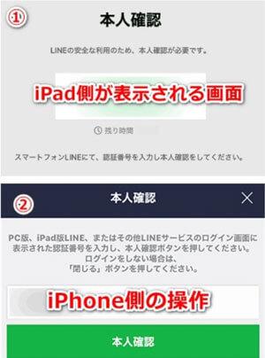 iPadでLINE登録するための本人確認