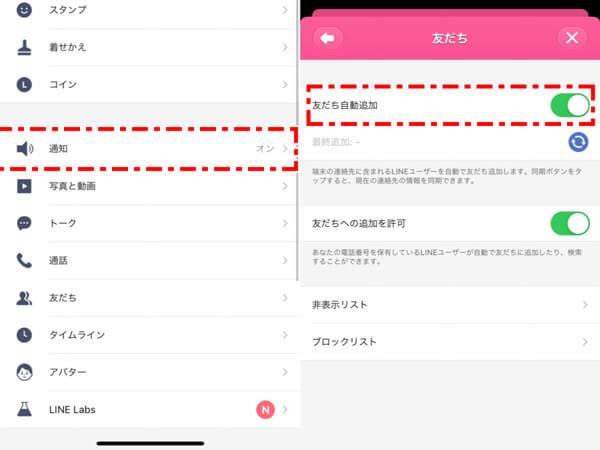LINE 友達への自動追加
