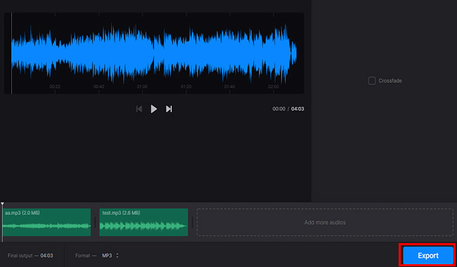 Clideo Audio Joiner 結合