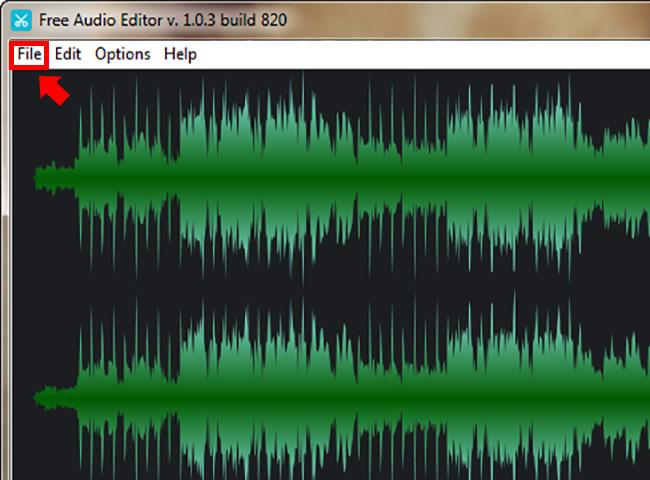 Free Audio Editor インポート