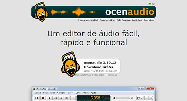 Ocenaudio ホームページ