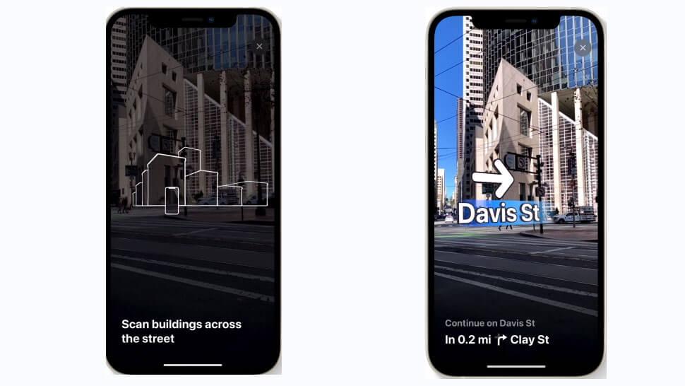 ios15 애플 지도 AR 걷기 코스