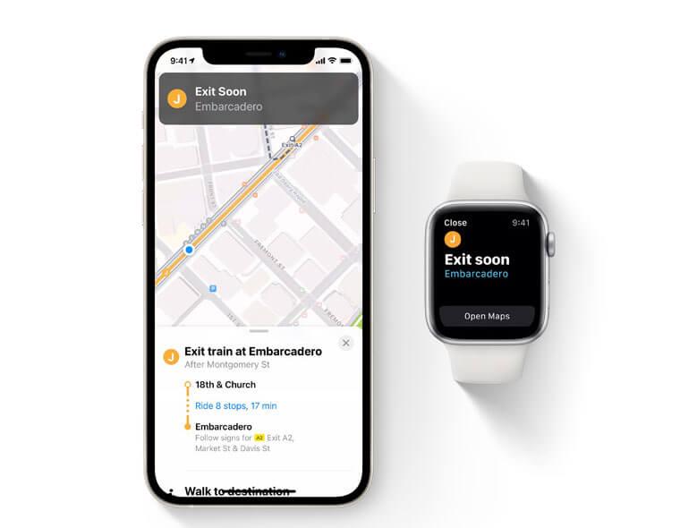 ios15 애플 지도 교통 기능