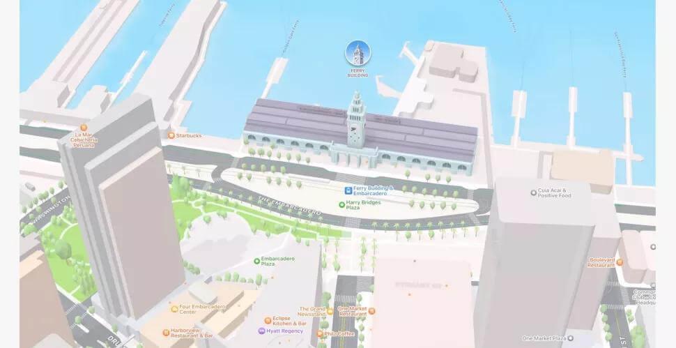 ios 15 애플 지도 도시 보기