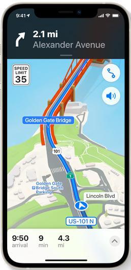 ios15 애플 지도 새로운 운전 기능
