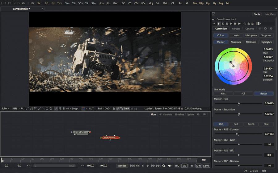 fusion 영상 편집 프로그램