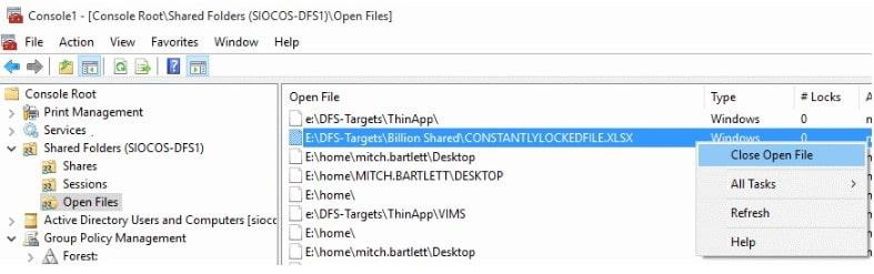 close open file
