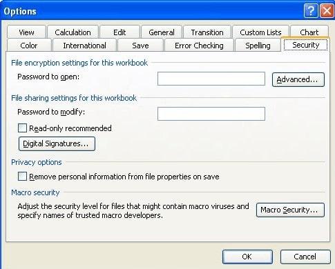 decrypt excel 2003 with password