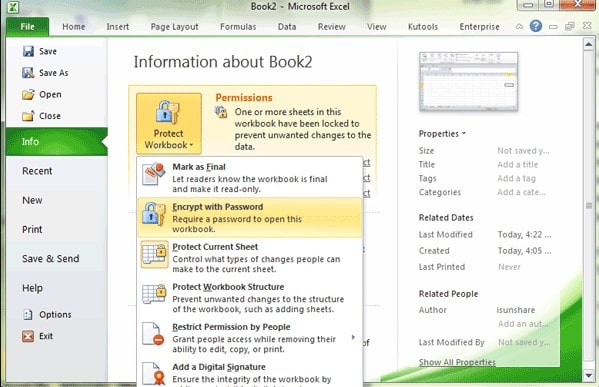 decrypt excel 2010 and later with password