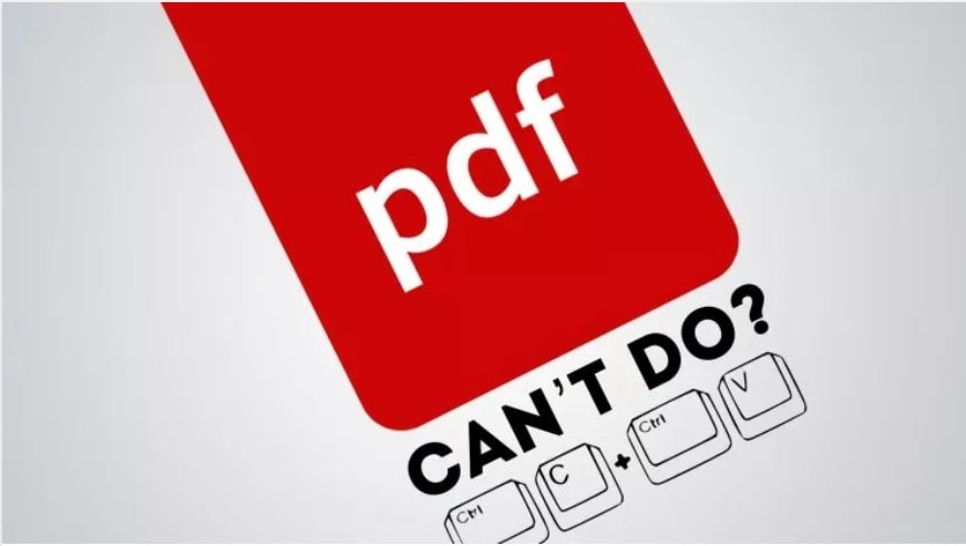 can't copy from pdf