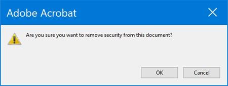 confirm remove permissions password