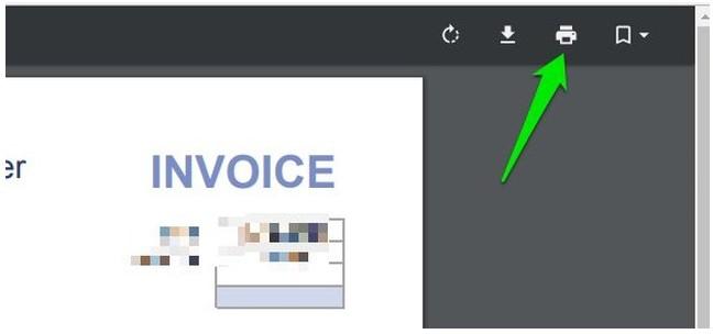 google chrom print icon