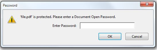 password protected pdf