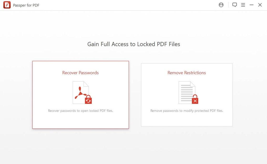 homepage of Passper for PDF