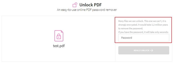 smallpdf password needed