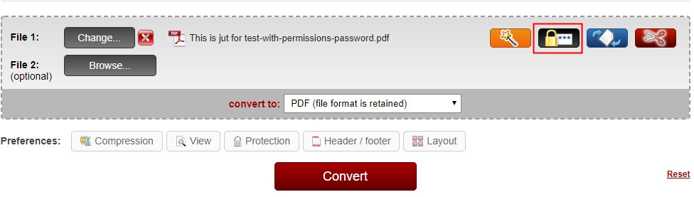 unlock pdf online2pdf step2