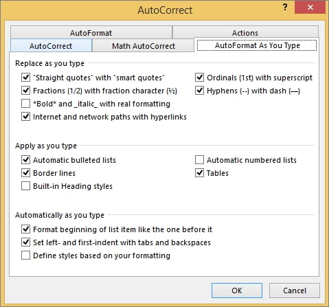 auto format as you type