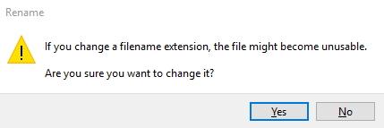 change word extension