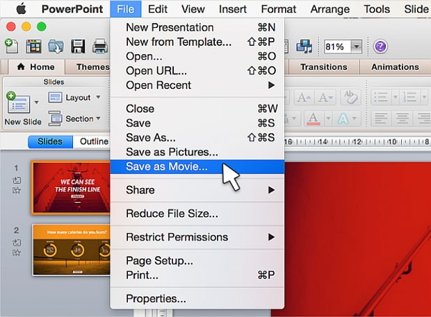 convert powerpoint to read only video