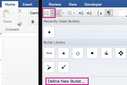 define new bullet