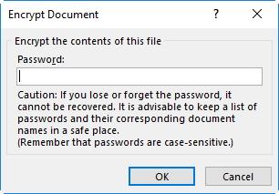 encrypt word document