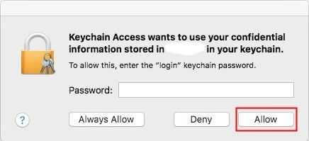 find excel password in keychain