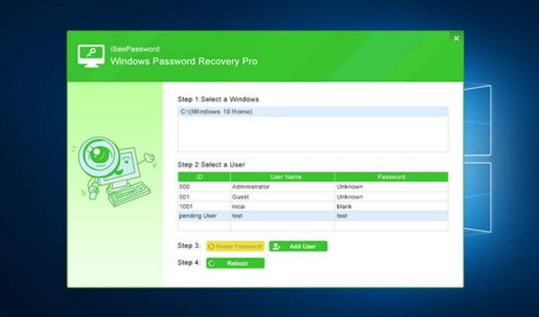 iseepassword windows recovery