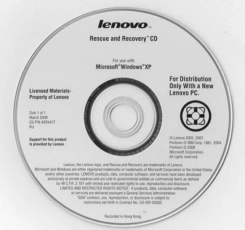 laptop rescue disc