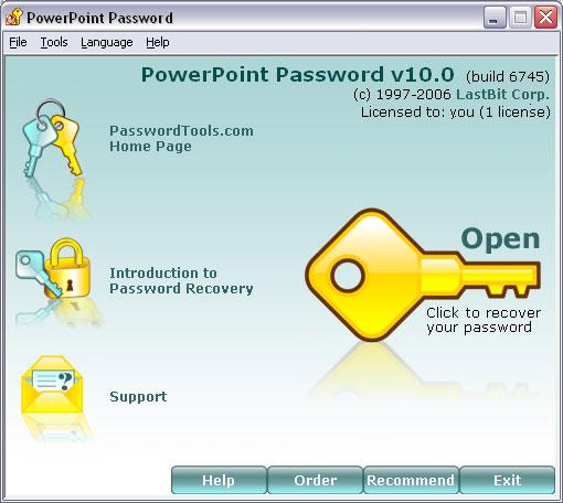 lastbit powerpoint password recovery