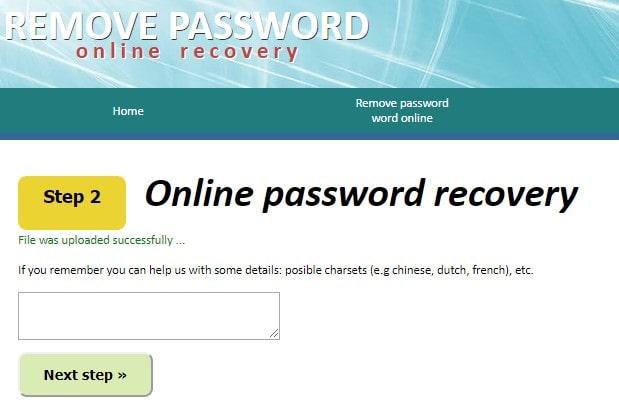 offer password hint