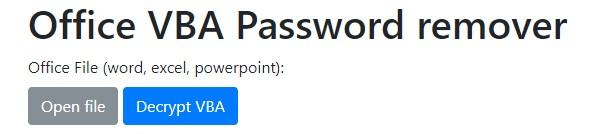 office vba password remover