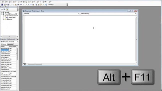 open visual basic editor