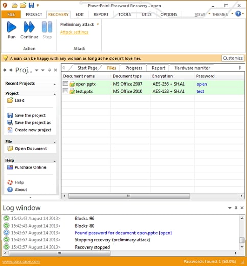 passcape powerpoint password recovery