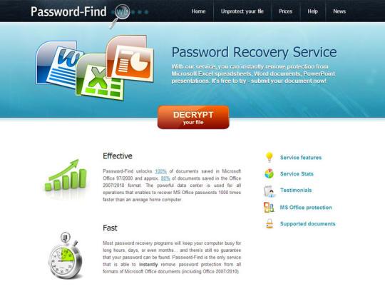 password find