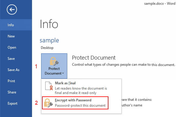 unprotect word document with password