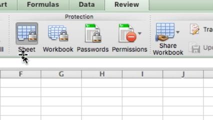 protect workbook mac