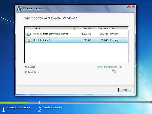 reinstall windows 7 system