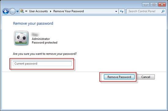 remove windows 7 password