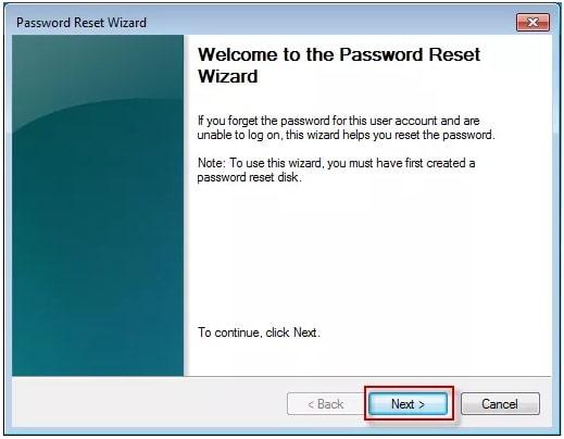 reset windows password wizard