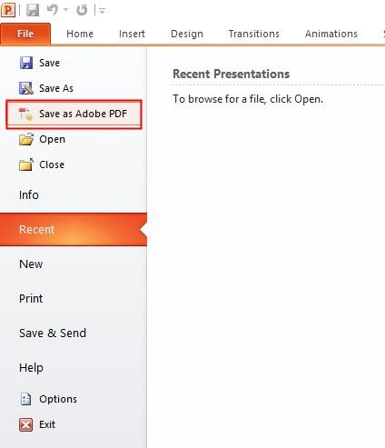 save as adobe pdf