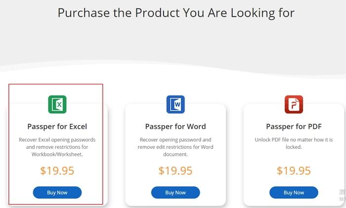 select passper for excel