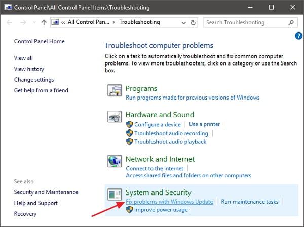 windows-update-troubleshoot-step-2