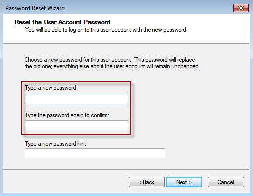 wizard to remove password