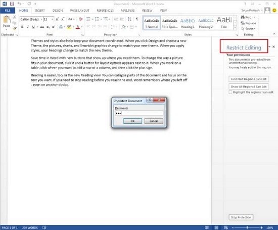 apply segment protection to word