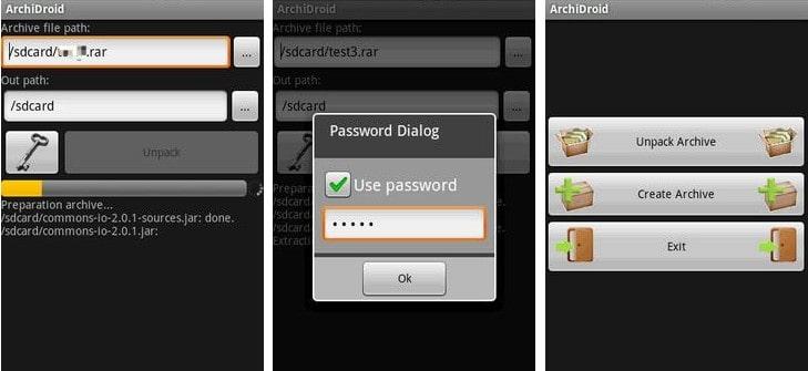bypass rar password on android
