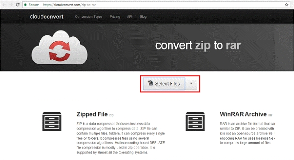 cloud convert select files